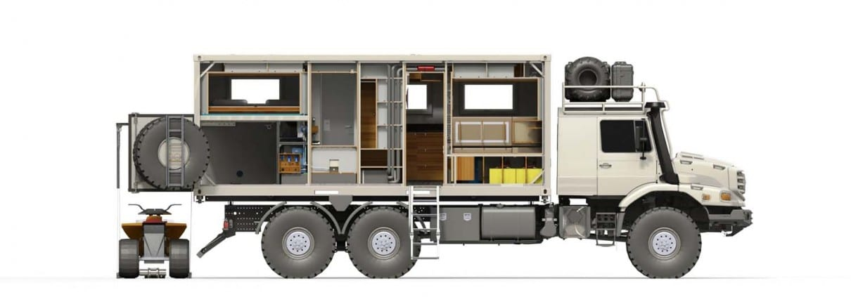 Bliss Mobil, Mercedes Zetros 6x6 20' Body