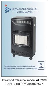 Infrarood rolkachel model ALP189 EAN CODE 8717081023577