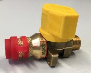 Veiligheidswaarschuwing Truma gas-buitenstopcontact en twee gaskoppelingen