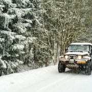met de vouwwagen winterkamperen