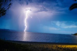 bliksem en onweer op de camping