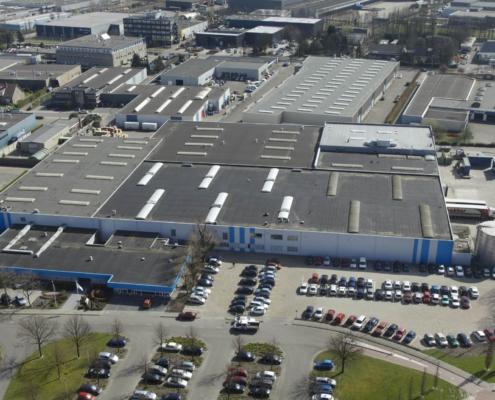 Thetford Europe luchtfoto van het complex in eaten-leur
