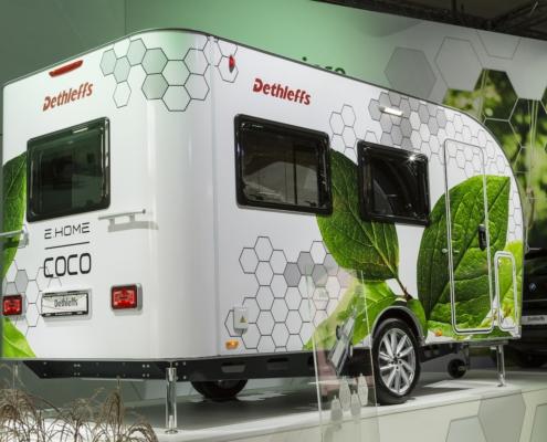 Dethleffs Coco e.home elektrisch aangedreven caravan